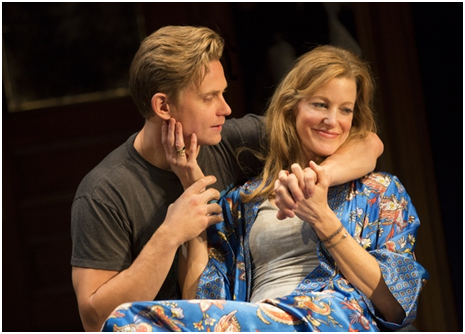 Billy Magnussen and Anna Gunn in a scene from Sex with Strangers (Photo credit: Joan Marcus)