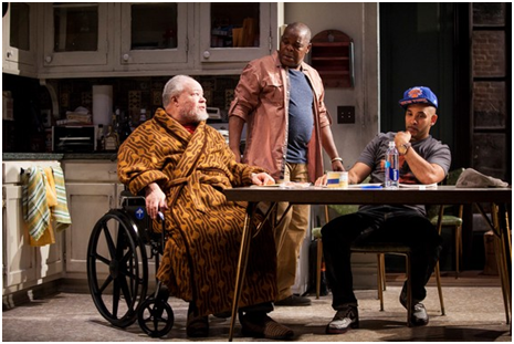 Stephen McKinley Henderson, Ray Anthony Thomas and Victor Almanzar in a scene from Between Riverside and Crazy (Photo credit: Kevin Thomas Garcia)