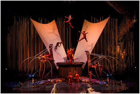 Russian Swings as they appear in Varekai (Photo credit: Courtesy of Cirque du Soleil)
