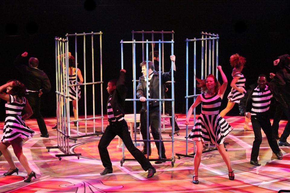 "A scene from ""All Shook Up,"" a celebration of Elvis Presley music."