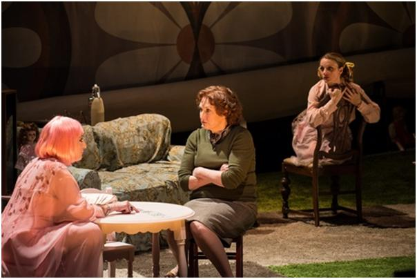 "Dana Smith-Croll, Caitlin O'Connell and Margot White in a scene from ""The Killing of Sister George"" (Photo credit: Marielle Solan Photography)"