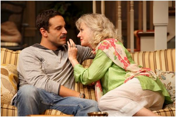 "Daniel Sunjata and Blythe Danner in a scene from ""The Country House"" (Photo credit: Joan Marcus)"