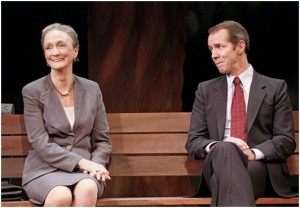 "Kathleen Chalfant and Paul Niebanck in a scene from Lee Blessing's ""A Walk in the Woods"" (Photo credit: Carol Rosegg)"