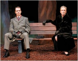 "Paul Niebanck and Kathleen Chalfant in a scene from Lee Blessing's ""A Walk in the Woods""  (Photo credit: Carol Rosegg)"