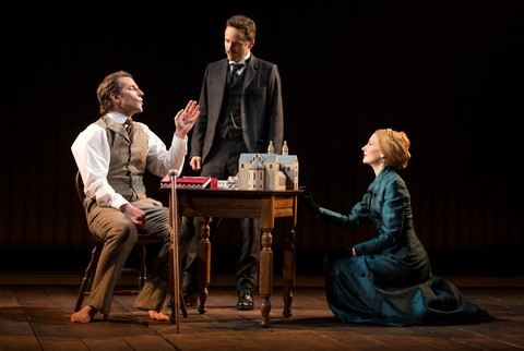 "Bradley Cooper, Alessandro Nivola and Patricia Clarkson in a scene from ""The Elephant Man"" (Photo credit: Joan Marcus)"
