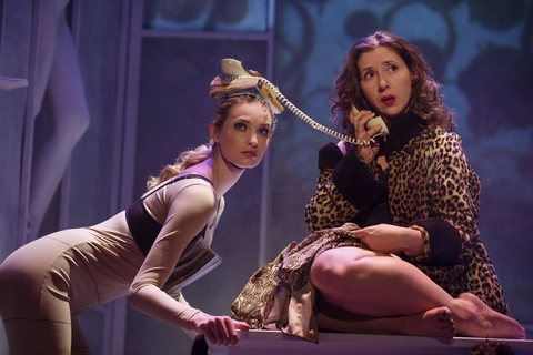"Allegra Rose Edwards and Miriam Silverman in a scene from ""Everything You Touch"" (Photo credit: Joan Marcus)"