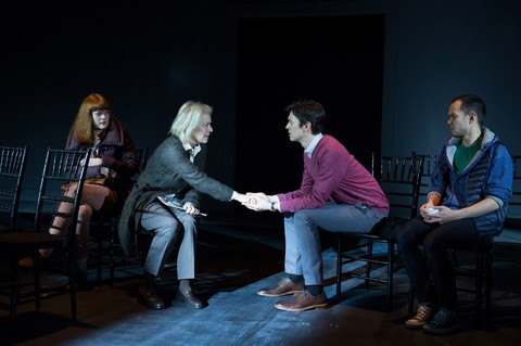 "Colby Minifie, Suzanne Bertish, Devin Norik and Jon Norman Schneider in a scene from ""City Of"" (Photo credit: Matthew Murphy)"