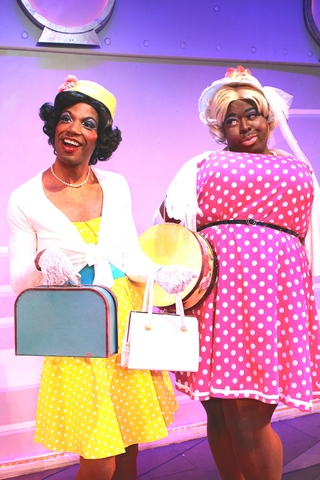 """DaWoyne A. Hill and Tobias Young in a scene from the musical """"Fabulous!"""" (Photo credit: Steven Bidwell)"""