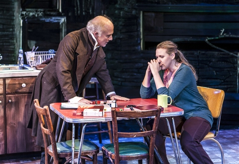 """Dan Butler and Cassie Beck in a scene from Lucy Thurber's """"The Insurgents"""" (Photo credit: Monique Carboni)"""