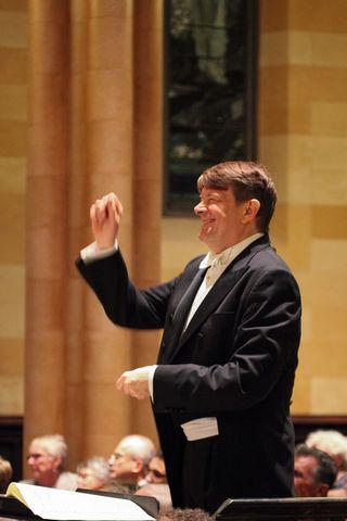 Maestro Dennis Keene at the podium