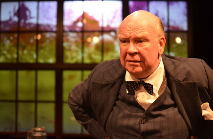 """Ronald Keaton as Winston Churchill in """"Churchill"""" at New World Stages (Photo credit: Jason Epperson)"""