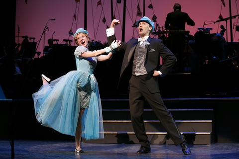 """Patti Murin and Danny Gardner in a scene from The Gershwins' """"Lady, Be Good!"""" (Photo credit: Carol Rosegg)"""