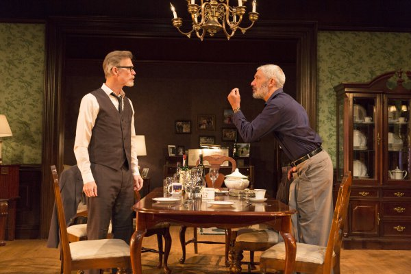 "Tom Nelis and Peter Francis James in a scene from ""The Winter's Tale"" at the Pearl Theatre (Photo credit: Richard Termine)"