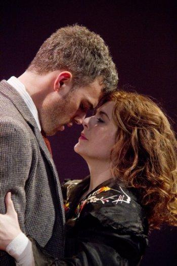 "Jordan Kaplan and Amelia Mathews in a scene from ""Irreversible"" (Photo credit: Red Fern)"