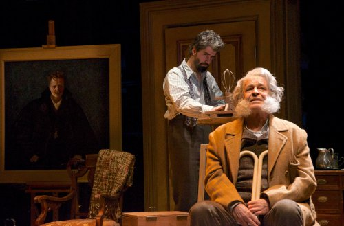 """Hamish Linklater and John Noble in a scene from """"Posterity"""" (Photo credit: Doug Hamilton)"""