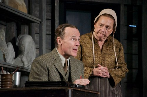 """Henry Stram and Dale Soules in a scene from """"Posterity"""" (Photo credit: Doug Hamilton)"""