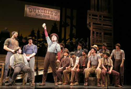 "Keith Carradine and cast in a scene from New York City Center Encores' revival of Lerner and Loewe's ""Paint Your Wagon"" (Photo credit: Joan Marcus)"