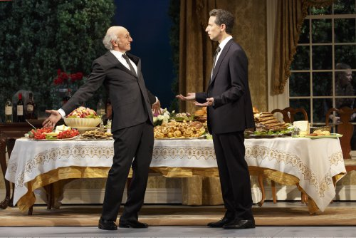 """Larry David and Ben Shenkman in a scene from """"Fish in the Dark"""" (Photo credit: Joan Marcus)"""