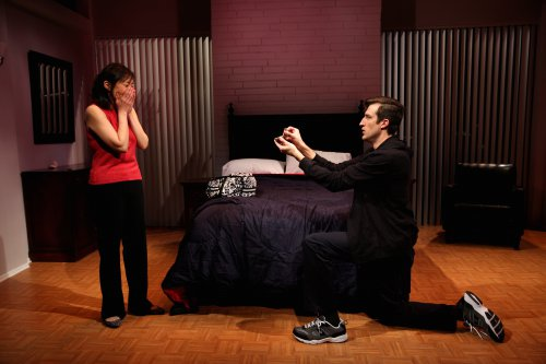 """Pearl Sun and Bryce Ryness in a scene from """"Long Story Short"""" (Photo credit: Michael Murphy)"""