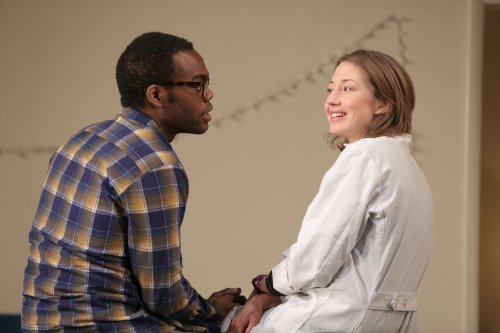 "William Jackson Harper and Carrie Coon in a scene from ""Placebo"" (Photo credit: Joan Marcus)"