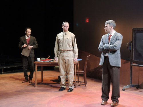 """Josh Doucette, Hugh Sinclair and Jordan Kaplan in a scene from """"Irreversible""""(Photo credit: Red Fern)"""