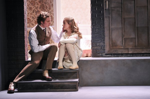 """Ben Rosenfield and Sophia Anne Caruso in a scene from """"The Nether"""" (Photo credit: Jenny Anderson)"""