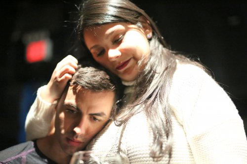"""Rafael Albarrán and Amanda Rios Nieves in a scene from """"I Catch You Dreaming""""(Photo credit: Disanto Diaz)"""