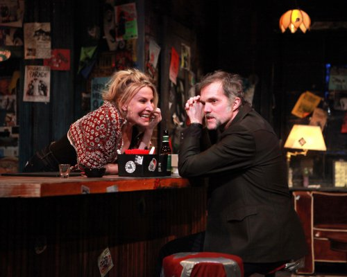 "Lusia Strus and Jeb Brown in a scene from Laura Eason's ""The Undeniable Sound of Right Now"" (Photo credit: Sandra Coudert)"