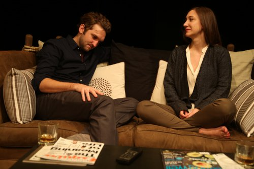 "Dylan Dawson and Darcy Fowler in as scene from ""Five Times in One Night"" (Photo credit: Gerry Goodstein)"