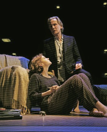 "Carey Mulligan and Bill Nighy in a scene from David Hare's ""Skylight"" (Photo credit: John Haynes)"