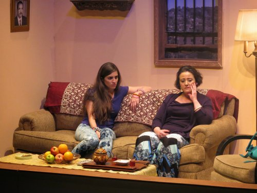 "Dahlia Azama and Maria Silverman in a scene from ""Martyrs Street"" (Photo credit:  Rosalie Baijer)"