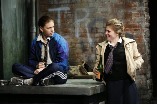 """Kate Lydic and Arielle Hoffman in a scene from """"The Belle of Belfast"""" (Photo credit: Carol Rosegg)"""