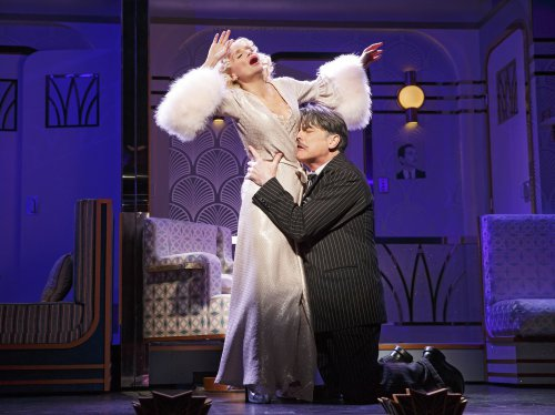 "Kristin Chenoweth and Peter Gallagher in a scene from ""On the Twentieth Century (Photo credit: Joan Marcus)"