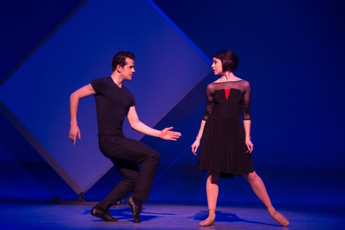 """Robert Fairchild as Jerry and Leanne Cope as Lise in a scene from the new Broadway musical """"An American in Paris"""" (Photo credit: Matthew Murphy)"""