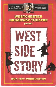 """West Side Story"""" Playbill"""