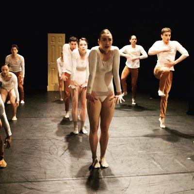 "Steps Repertory Ensemble in a scene from Bradley Shelver's ""Le Monde est Fini""(Photo credit: Nan Melville)"