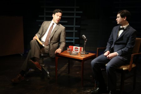 "Aaron Serotsky and Jake Kitchin in a scene from the Anna Ziegler - Matt Schatz musical, ""I Battled Lenny Ross"" (Photo credit: Gerry Goodstein)"