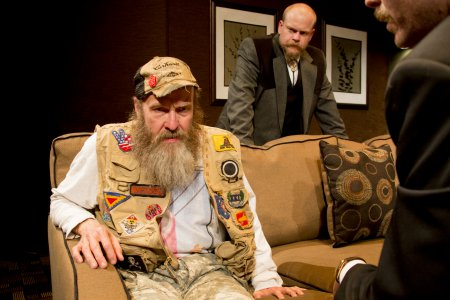 "Mark Roberts, Jared Culverhouse and Malcolm Madera in a scene from ""New County"" (Photo credit: Clay Anderson)"
