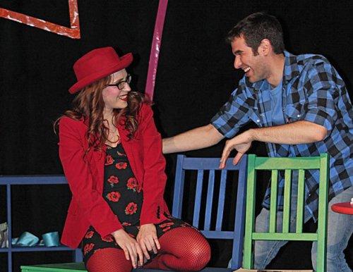 """Amy-Helene Carlson and Zal Owen in a scene from """"Love Me"""" (Jason S. Grossman)"""