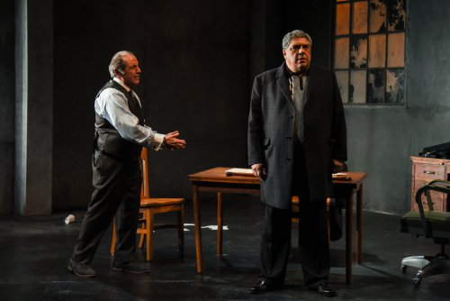 """David Proval and Vincent Pastore in a scene from """"A Queen for a Day"""" (Photo credit: Russ Rowland)"""