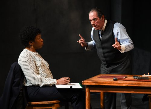 """Portia and David Proval in a scene from """"A Queen for a Day"""" (Photo credit: Russ Rowland)"""