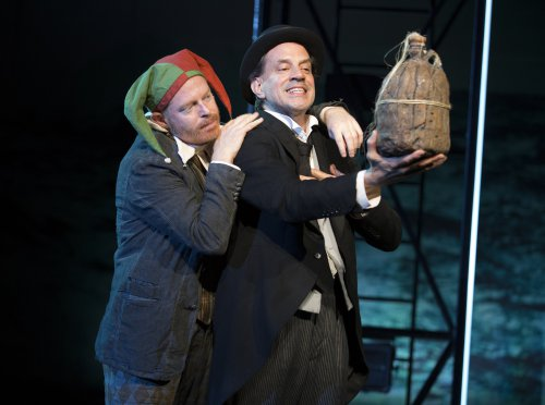 """Jesse Tyler Ferguson as Trinculo and Danny Mastrogiorgio as Stephano in a scene from """"The Tempest"""" at the Delacorte Theater (Photo credit: Joan Marcus)"""
