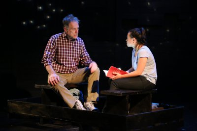 """Michael Cullen and Emma Galvin in a scene from """"The Science of Stars and Fathers and Daughters"""" by Darcy Fowler (Photo credit: Gerry Goodstein)"""