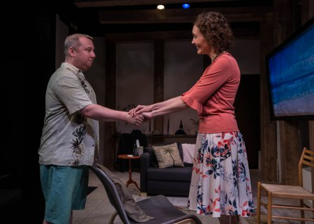 "Rory Scholl and Lisa Riegel in a scene from ""Mallorca"" (Photo credit: Kim T. Sharp)"