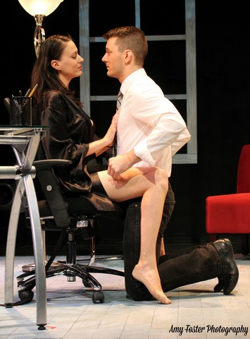 """Sarah Swift and Brandon Alan Smith in a scene from """"Devoted Dreams"""" (Photo credit: Amy Foster Photography)"""