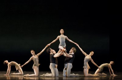 "Sarah Lamb and Artists of the Royal Ballet In a scene from ""Song of the Earth"" by Kenneth MacMillan (Photo credit: Bill Cooper)"
