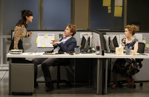 "Jennifer Kim, Ryan Spahn and Catherine Combs in a scene from ""Gloria"" (Photo credit: Carol Rosegg)"