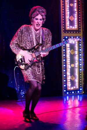 """David Hanbury as the diva Mrs. Smith in a scene from """"Mrs. Smith's Broadway Cat-tacular"""" (Photo credit: Dan Norman)"""