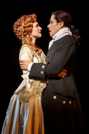 "Erin Mackey and Josh Young in a scene from ""Amazing Grace"" (Photo credit: Joan Marcus)"
