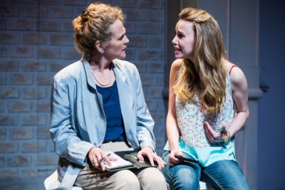 """Lué McWilliams and Olivia Scott in a scene from """"I Know What Boys Want"""" (Photo credit: Al Foote III)"""